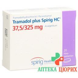 Трамадол плюс Спириг 37.5/325 мг 20 таблеток покрытых оболочкой