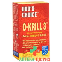 Udos Choice O-krill 3 Licaps 60 штук