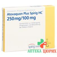 Атоваквон Плюс Спириг 250/100 мг 12 таблеток покрытых оболочкой