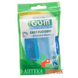 Gum Sunstar 890 Easy Flosser Zahnseide 30 штук