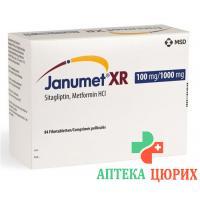 Янумет XR Ретард 100/1000 мг 28 таблеток покрытых оболочкой