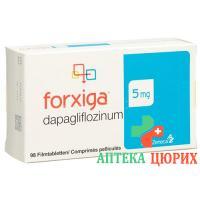 Форксига 5 мг 98 таблеток покрытых оболочкой