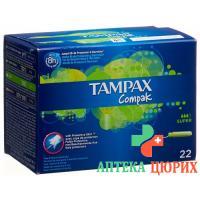 Tampax Compak Super Tampons 22 штуки