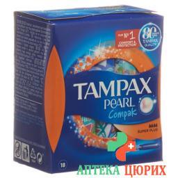 Tampax Tampons Compak Pearl Super Plus 18 штук