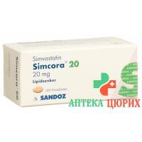 Симкора 20 мг 100 таблеток покрытых оболочкой