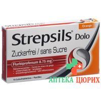 Стрепсилс Доло без сахара 16пастилок