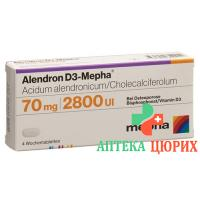 Алендрон Д3 Мефа 70/2800 12 таблеток