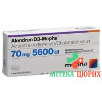 Алендрон Д3 Мефа 70/5600 12 таблеток