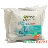 Garnier Nat Pureactive Kl Reinig-Tue Duo 2x25 St