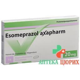 Эзомепразол Аксафарм 20 мг 30 таблеток покрытых оболочкой