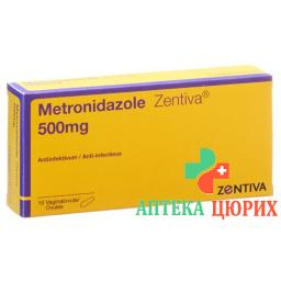 Метронидазол Зентива500 мг 10 вагинальных суппозиториев