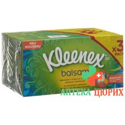 Kleenex косметические салфетки бальзам Trio Box