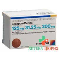 Лекапон Мефа 125 мг / 31,25 мг / 200 мг 100 таблеток покрытых оболочкой