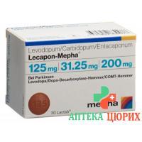 Лекапон Мефа 125 мг / 31,25 мг / 200 мг 30 таблеток покрытых оболочкой