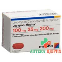 Лекапон Мефа 100 мг / 25 мг / 200 мг 30 таблеток покрытых оболочкой