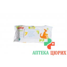 Nuby All Naturals Baby-feuchttucher Antibak 80 штук