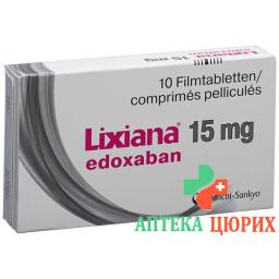 Ликсиана 15 мг 10 таблеток покрытых оболочкой