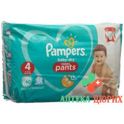 Pampers Baby Dry Pants размер 4 8-15кг Maxi Spar 40 штук