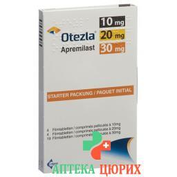 Отесла стартовая упаковка 4x10,4x20,19x30 мг 27 таблеток покрытых оболочкой