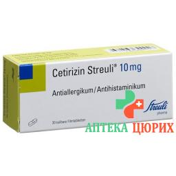 Цетиризин Штройли 10 мг 30 таблеток покрытых оболочкой