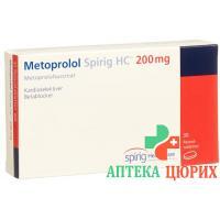 Метопролол Спириг Ретард 200 мг 30 таблеток покрытых оболочкой