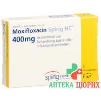 Моксифлоксацин Спириг 400 мг 5 таблеток покрытых оболочкой