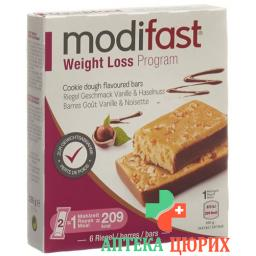 Модифаст программа потери веса батончик ваниль фундук 6x31 грамм