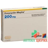 Доксициклин Мефа 200 мг 10 таблеток