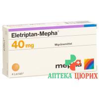 Элетриптан Мефа 40 мг 4 таблеток покрытых оболочкой