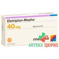 Элетриптан Мефа 40 мг 20 таблеток покрытых оболочкой