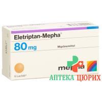 Элетриптан Мефа 80 мг 6 таблеток покрытых оболочкой