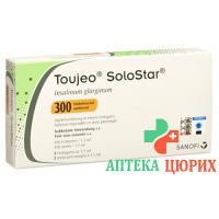 Тужео Солостар 300 E/мл картридж 3 X 1.5 мл инсулин для инъекций