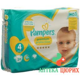 Pampers Prem Prot размер 4 8-16кг Maxi Sparp 39 штук