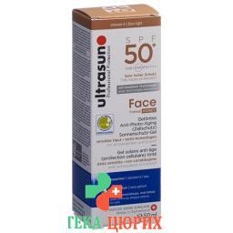 Ultrasun Face Tinted Sonnenschutzfaktor 50+ Honey 50мл