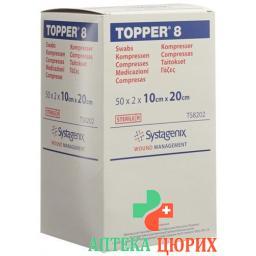 Topper 8 Einmal-Kompressen 10x20см стерильный 50 пакетиков a 2 штуки