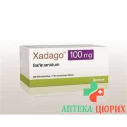 Ксадаго 100 мг 100 таблеток покрытых оболочкой