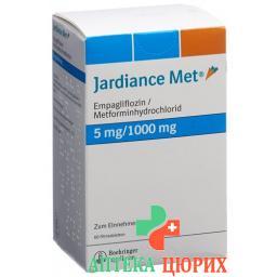 Джардинс Мет 5/1000 мг 60 таблеток покрытых оболочкой