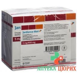 Джардинс Мет 5/850 мг 2x90 таблеток покрытых оболочкой