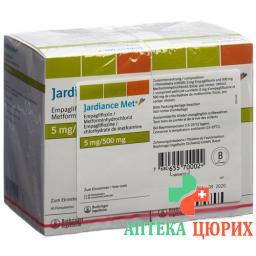 Джардинс Мет 5/500 мг 2x90 таблеток покрытых оболочкой