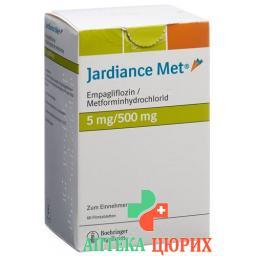 Джардинс Мет 5/500 мг 60 таблеток покрытых оболочкой