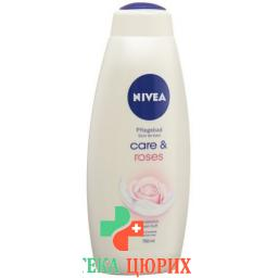 Nivea Pflegebad Care & Roses 750мл