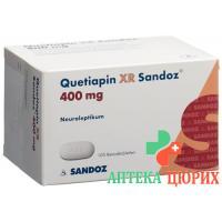 Кветиапин XR Сандоз 400 мг 100 ретард таблеток
