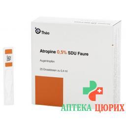 Атропин 0.5% 20 монодоз 0.4 мл