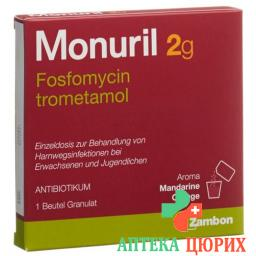 Монурил гранулы 2 грамма пакетик