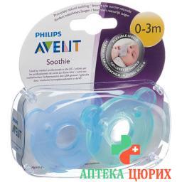 Avent Philips Soothie Blau/grun 0-3m 2 штуки