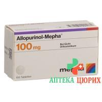 Аллопуринол Мефа 100 мг 100 таблеток