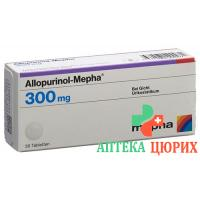 Аллопуринол Мефа 300 мг 30 таблеток