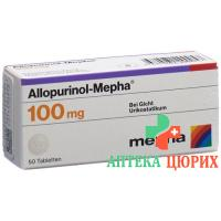 Аллопуринол Мефа 100 мг 50 таблеток