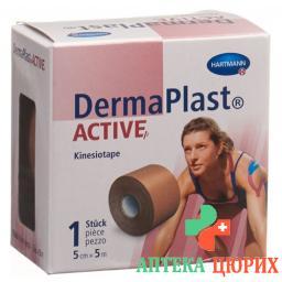 Dermaplast Active Kinesiotape 5см x 5m Beige