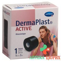 Dermaplast Active Kinesiotape 5см x 5m Schwarz